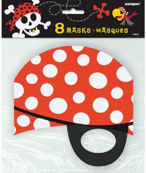 Pirate Fun Party Masks (8)